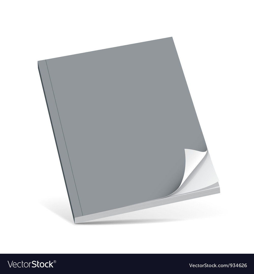 Cover gray book with blank vector | Price: 1 Credit (USD $1)