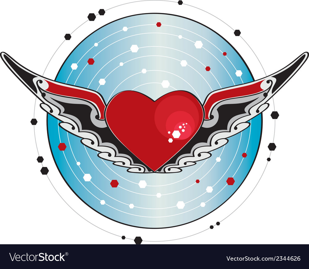 Flying heart vector | Price: 1 Credit (USD $1)