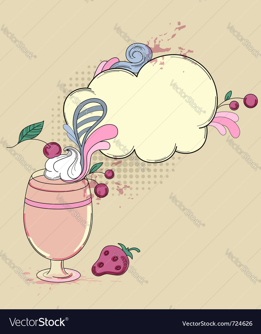 Hand drawn retro drink vector | Price: 3 Credit (USD $3)