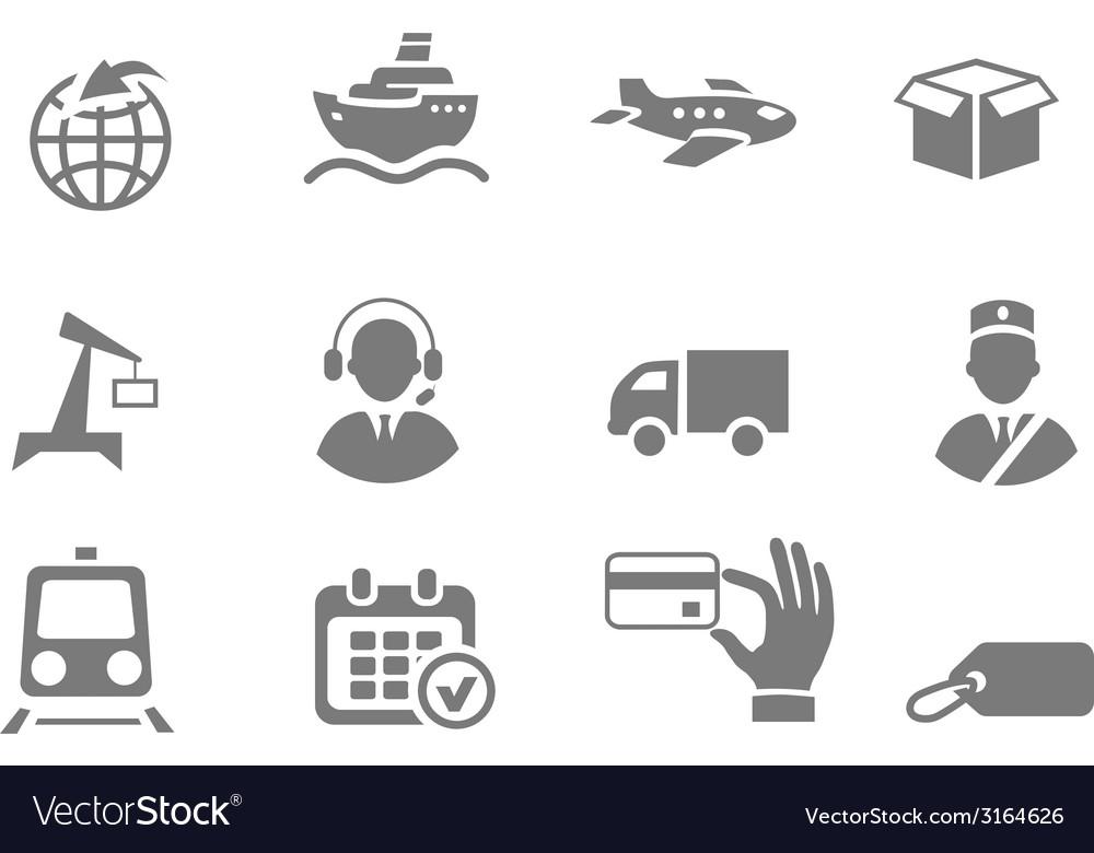 Logistics icons vector | Price: 1 Credit (USD $1)