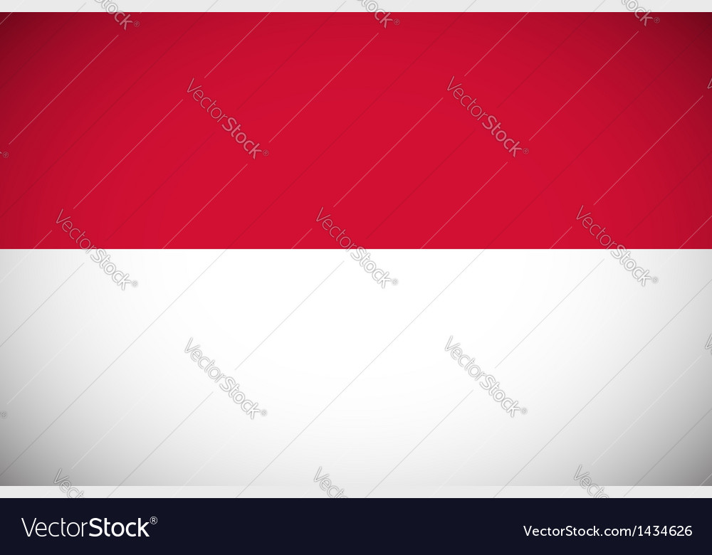 National flag of indonesia vector | Price: 1 Credit (USD $1)