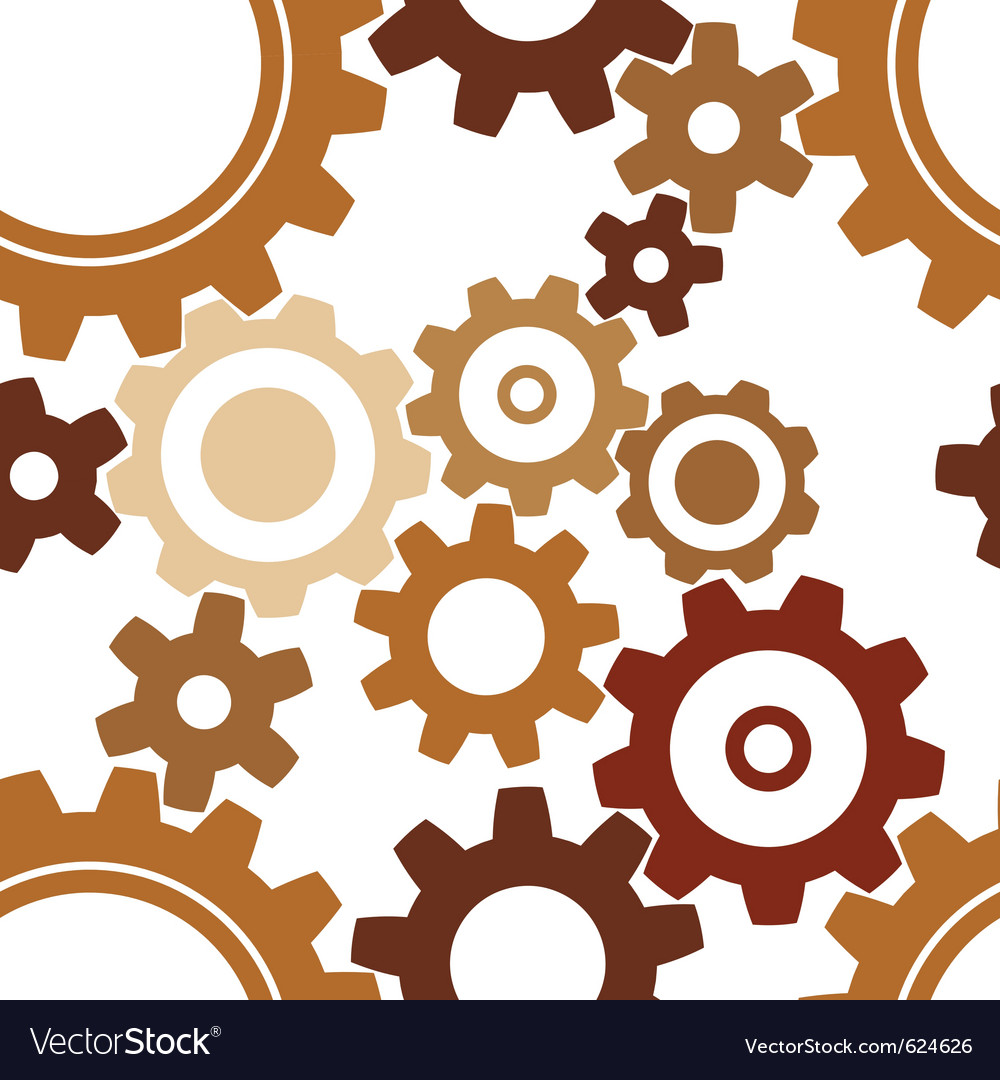 Rusty cogwheel pattern vector | Price: 1 Credit (USD $1)