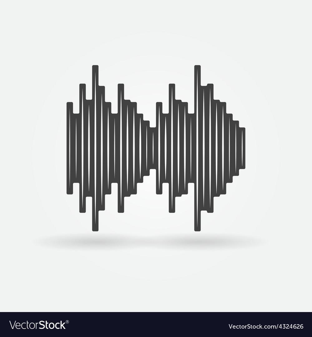 Soundwave black icon vector | Price: 1 Credit (USD $1)