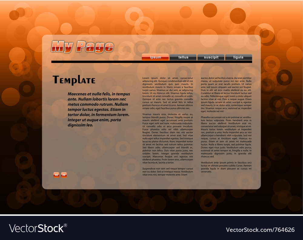 Web orange template with circles background vector | Price: 1 Credit (USD $1)