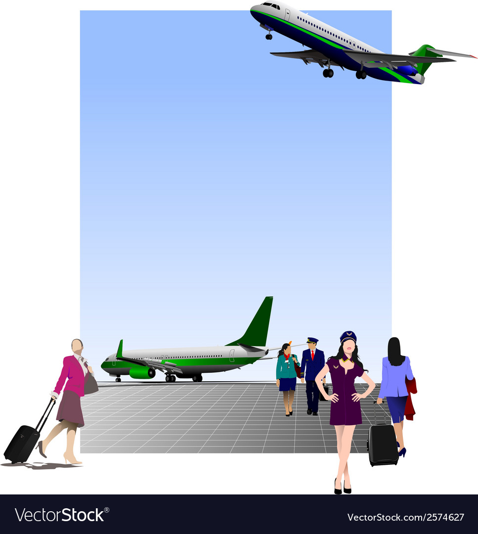 6207 airport vector | Price: 1 Credit (USD $1)