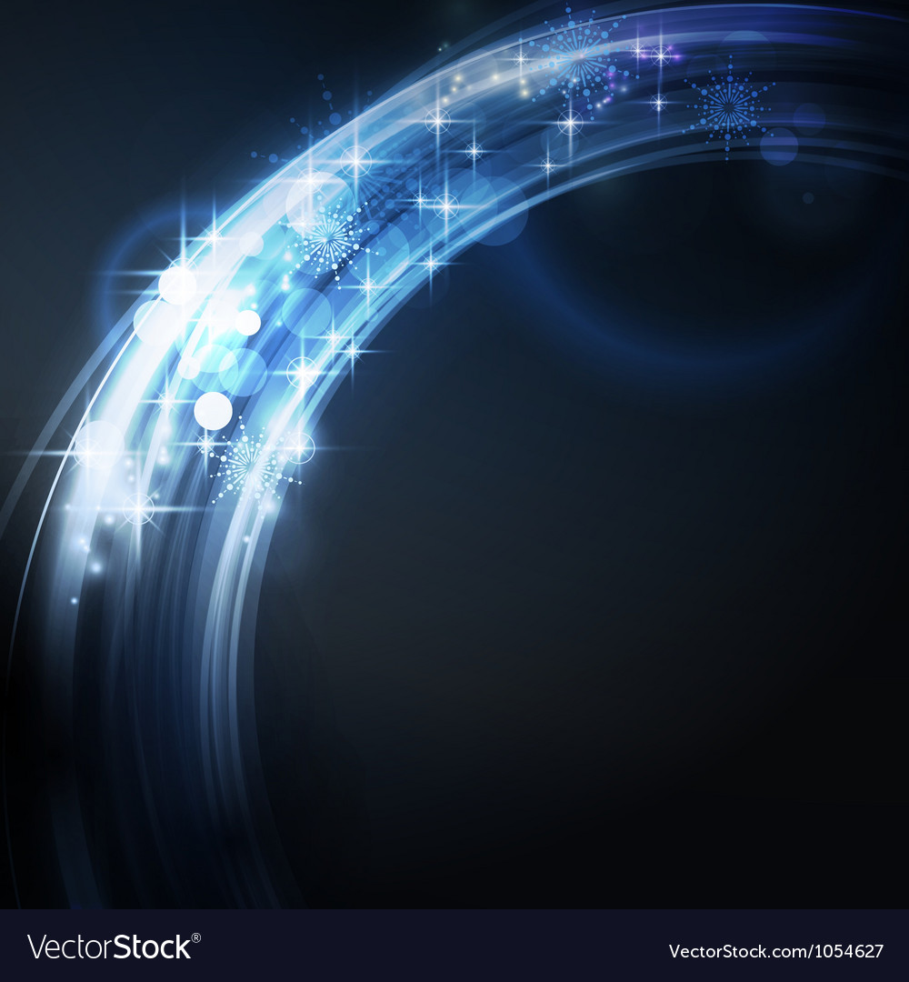 Abstract circular light border with stars vector   Price: 1 Credit (USD $1)
