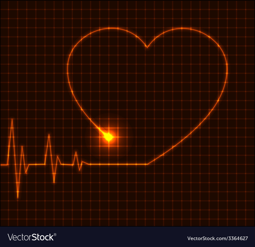 Abstract heart cardiogram - vector | Price: 1 Credit (USD $1)