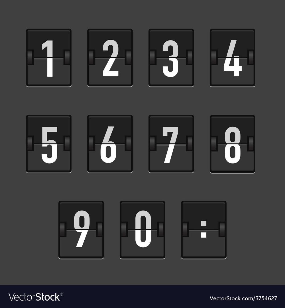 Abstractblackretroscoreboard vector | Price: 1 Credit (USD $1)
