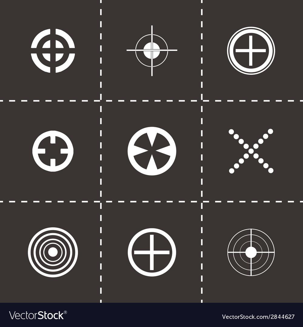 Black target icons set vector | Price: 1 Credit (USD $1)
