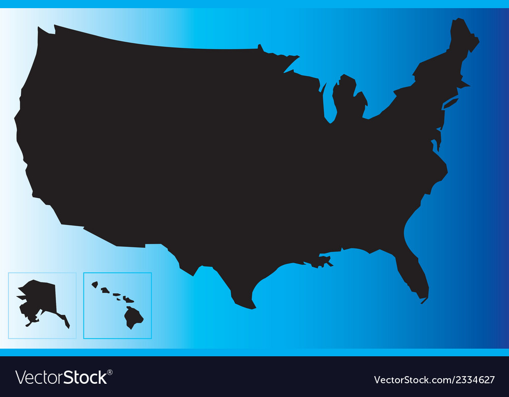 Black usa map vector | Price: 1 Credit (USD $1)