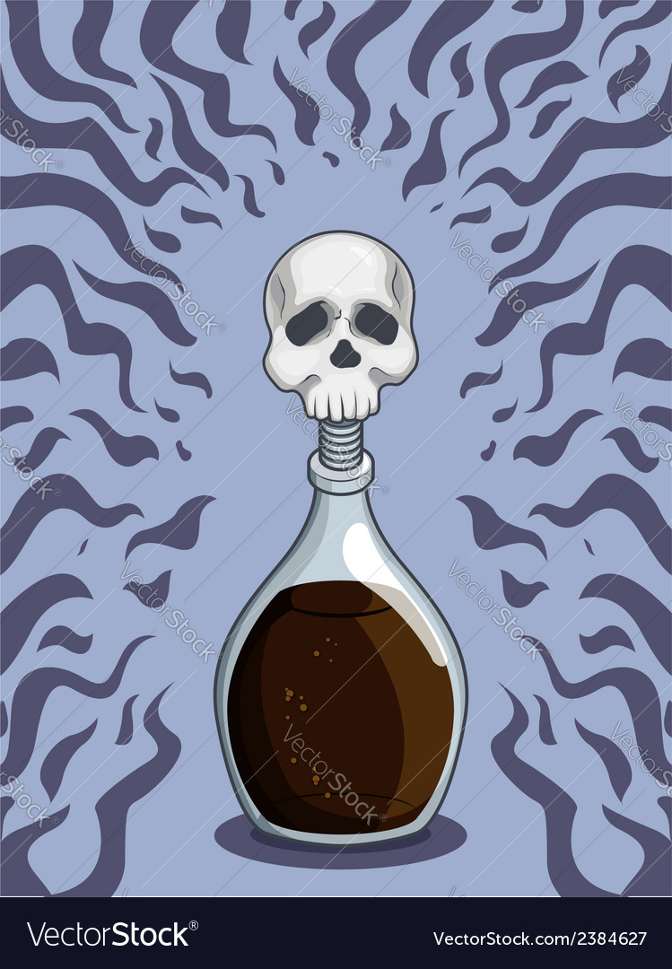 Bottle of death poison vector | Price: 1 Credit (USD $1)