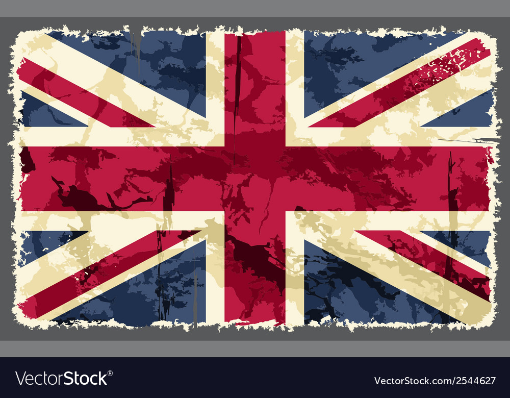 British grunge flag vector | Price: 1 Credit (USD $1)