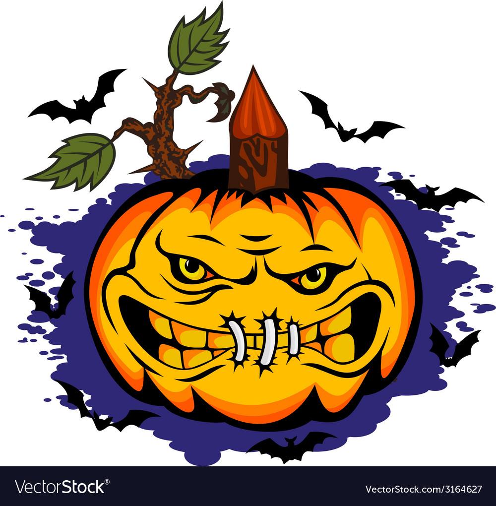 Danger halloween pumpkin vector | Price: 1 Credit (USD $1)