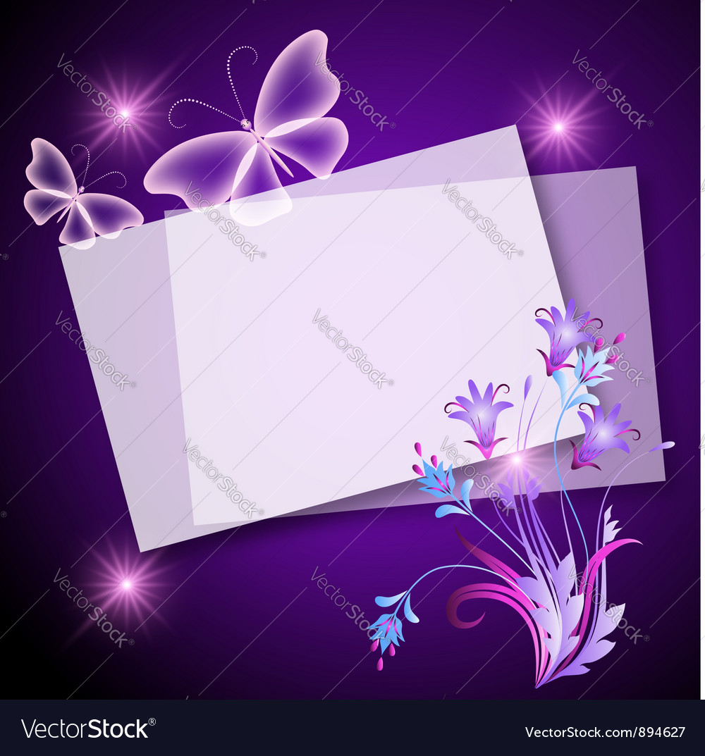 Floral note template vector | Price: 1 Credit (USD $1)