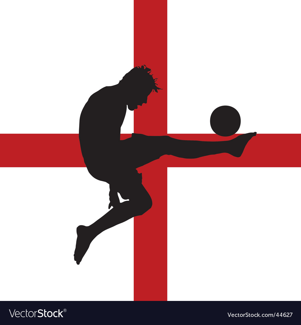 Football player with english flag vector | Price: 1 Credit (USD $1)