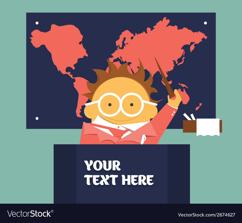 Geography teacher vector | Price: 1 Credit (USD $1)