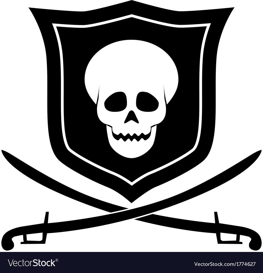 Pirate emblem vector | Price: 1 Credit (USD $1)