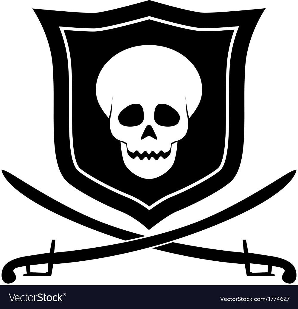 Pirate emblem vector | Price: 1 Credit (USD $1)