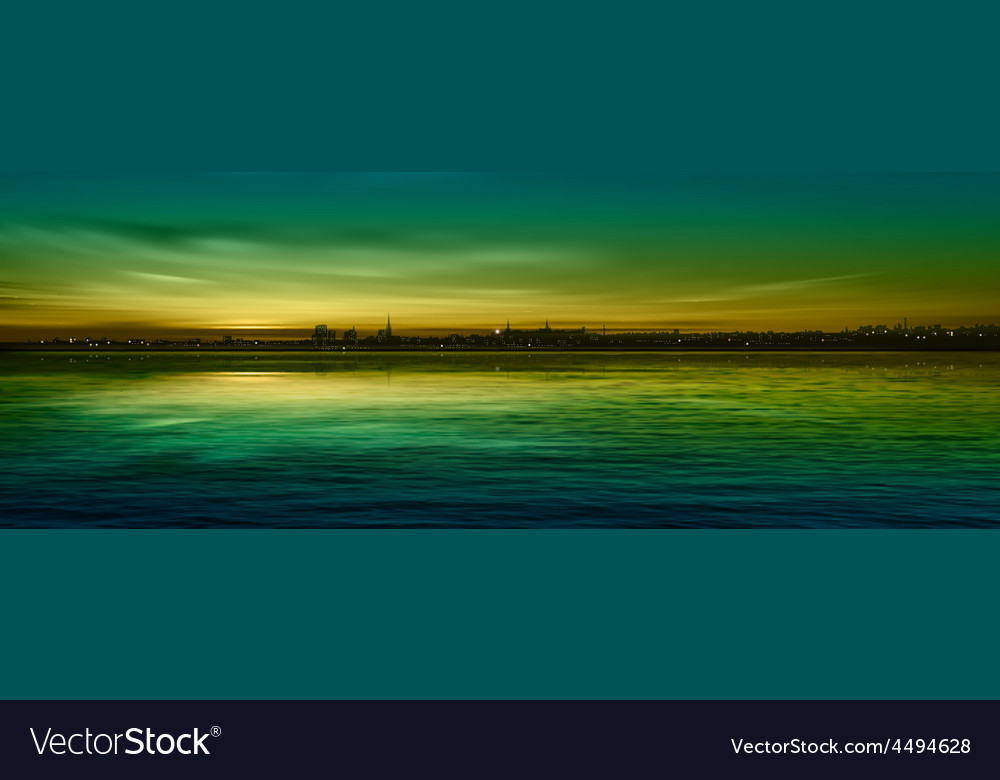Abstract nature green background with panorama of vector | Price: 3 Credit (USD $3)