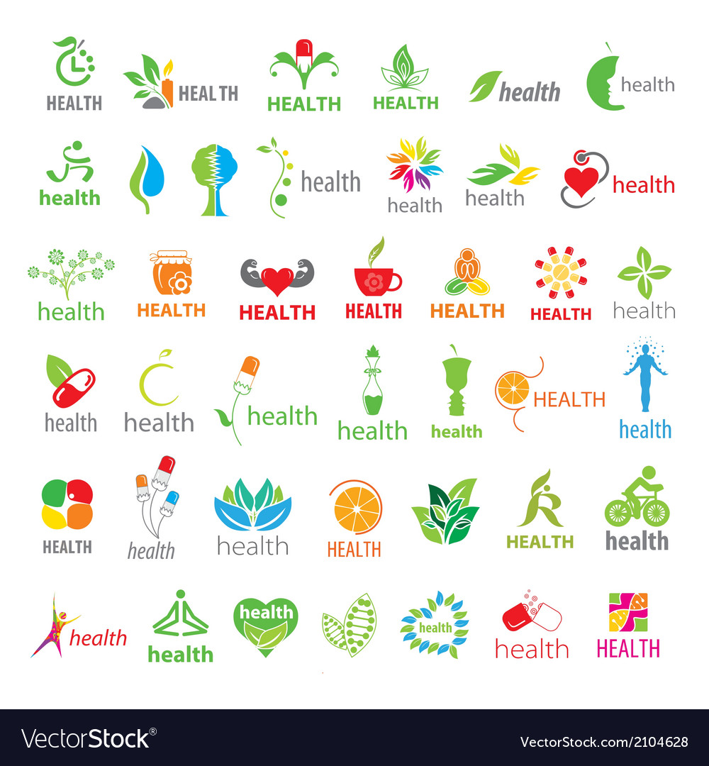 Biggest collection of logos health vector | Price: 1 Credit (USD $1)