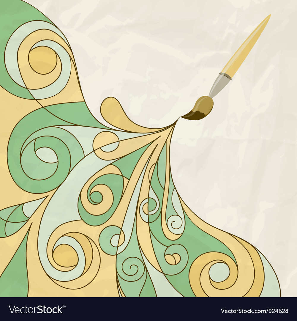 Concept cartoon brush vector | Price: 1 Credit (USD $1)