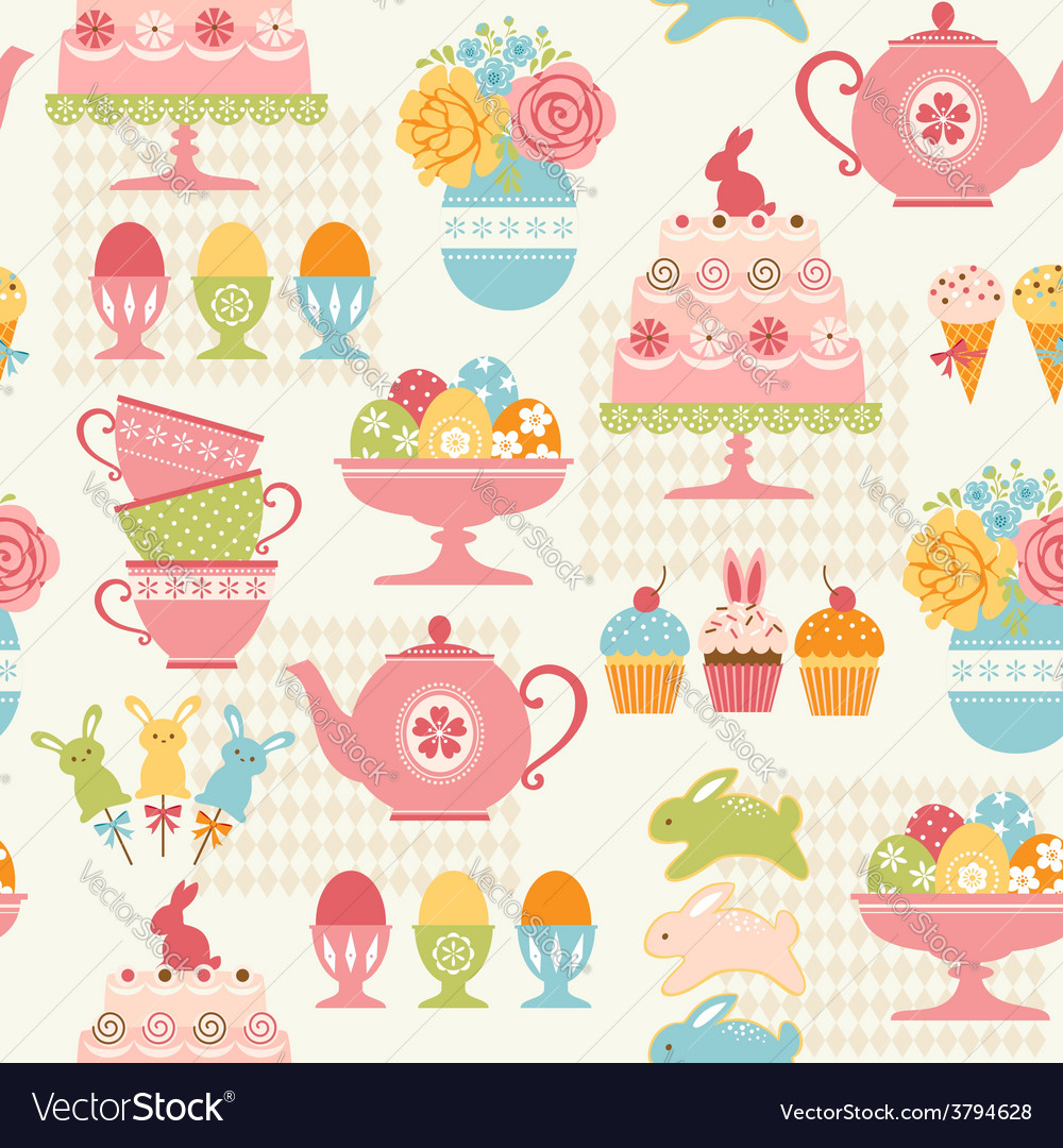 Easter party pattern vector | Price: 1 Credit (USD $1)