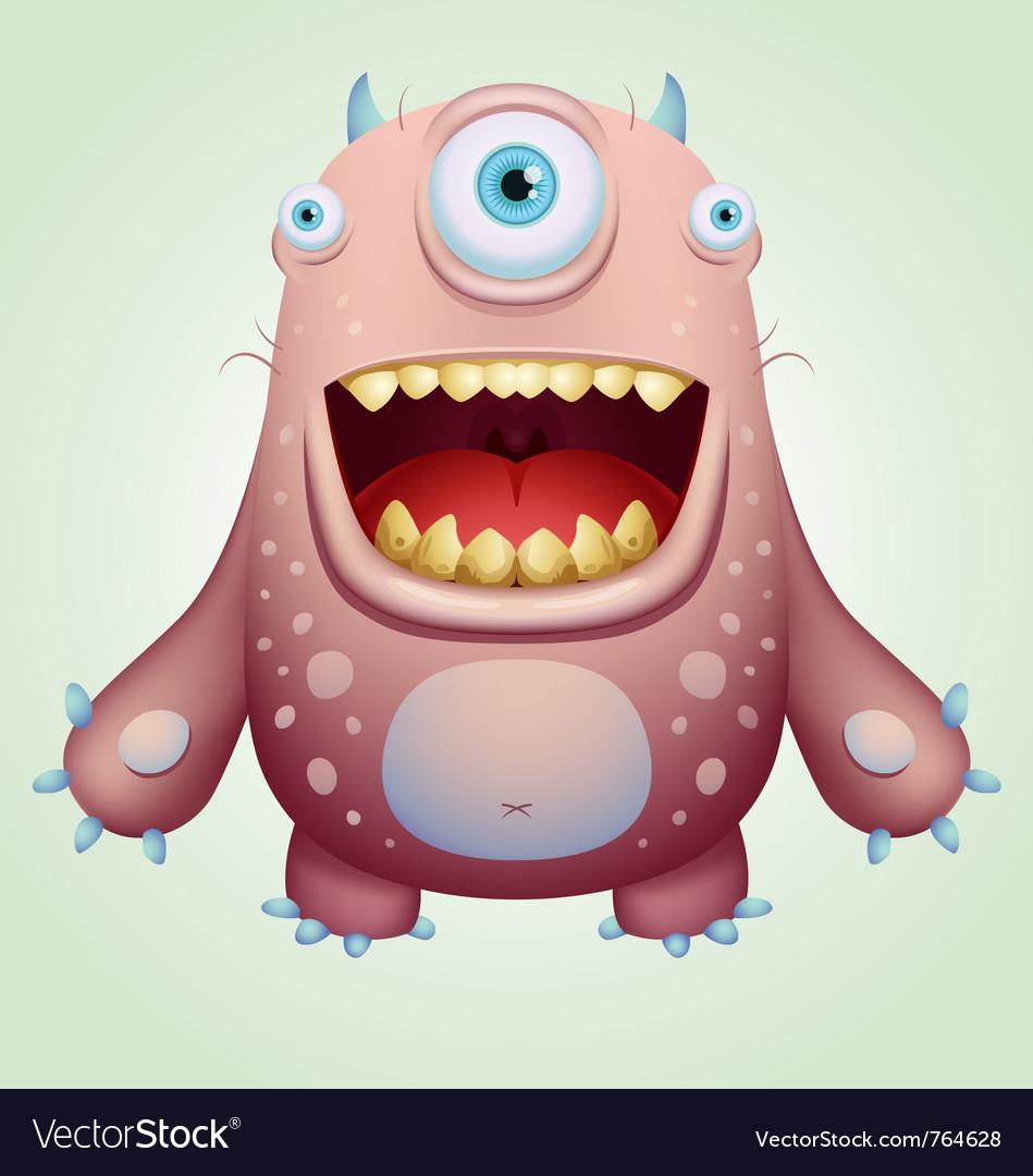 Happy monster vector | Price: 3 Credit (USD $3)