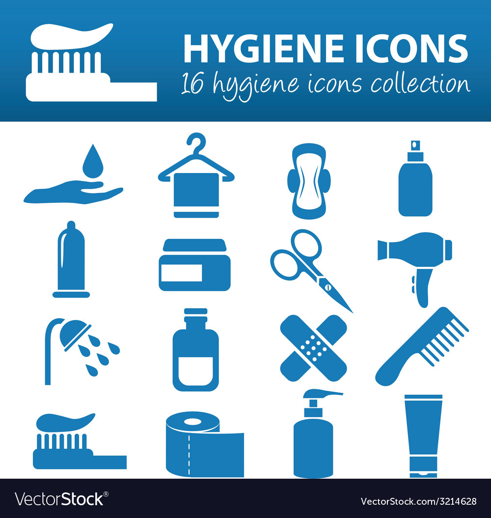 Hygiene icons vector | Price: 1 Credit (USD $1)