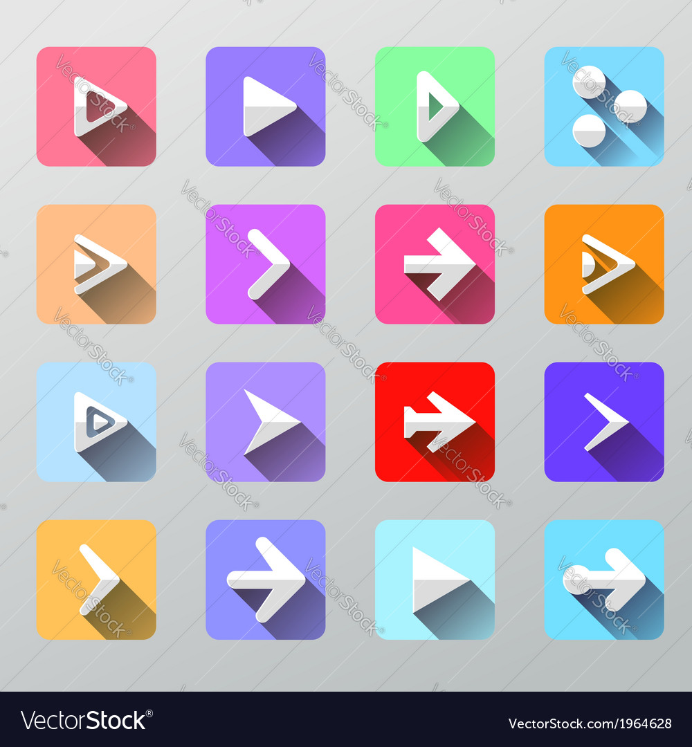 Set arrow icons - flat ui for web and mobile vector | Price: 1 Credit (USD $1)