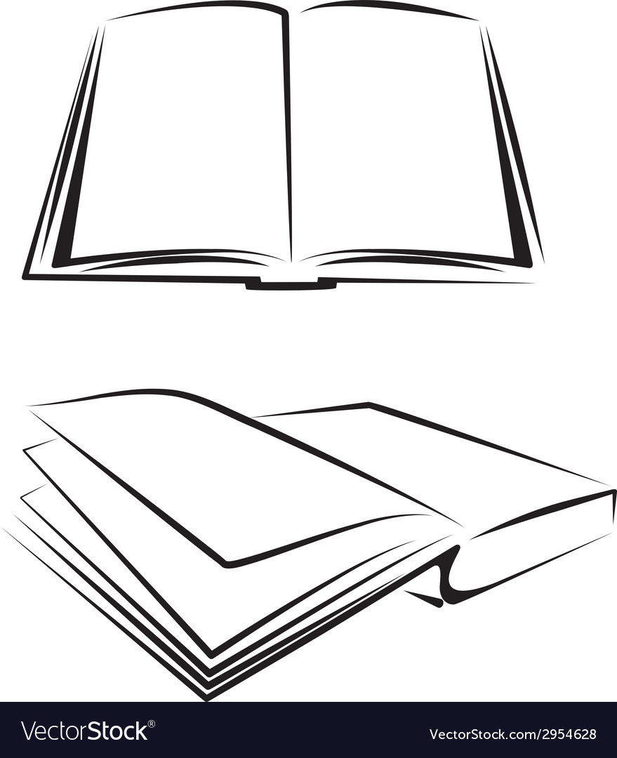 Set of books vector | Price: 1 Credit (USD $1)