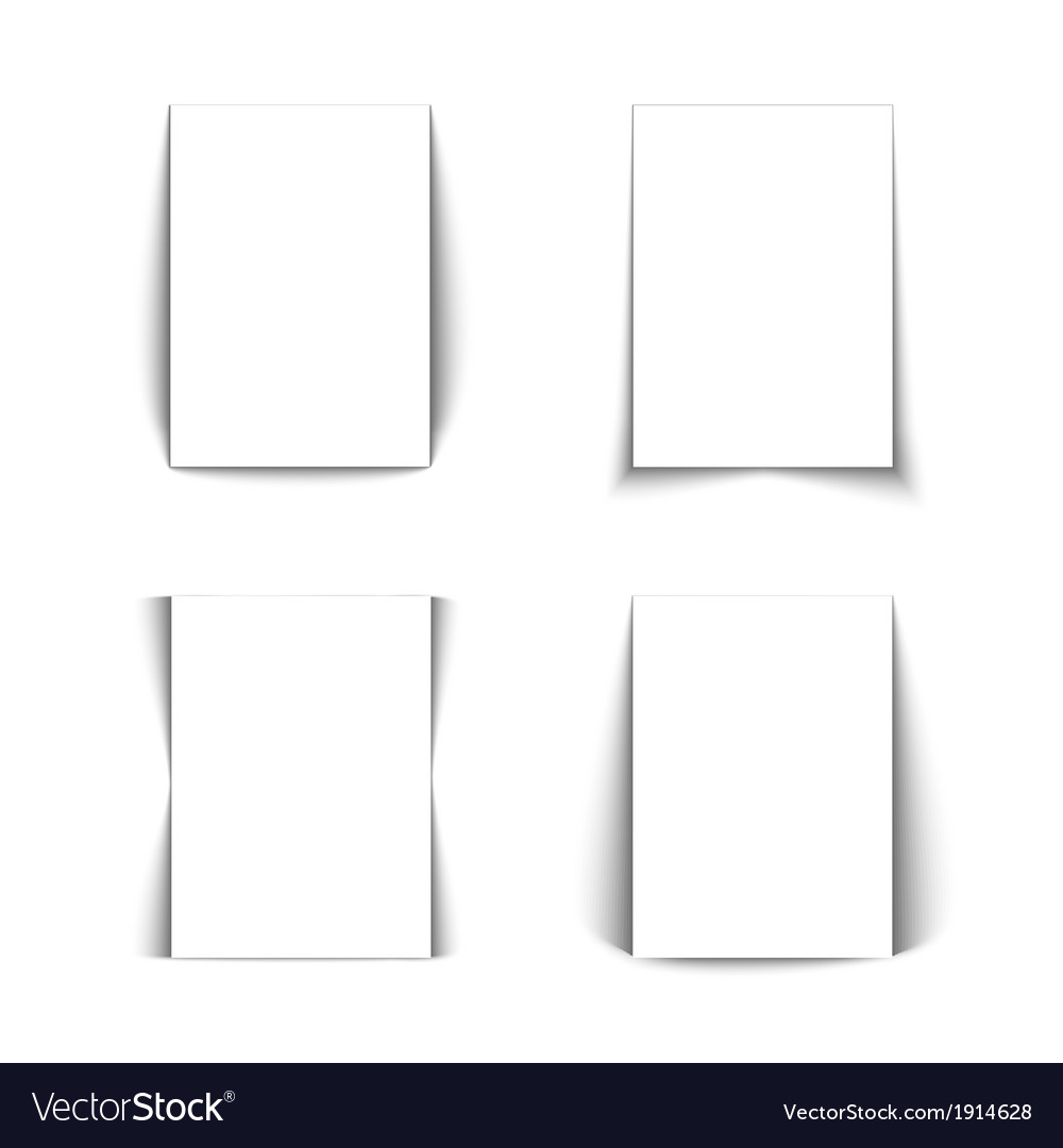 Set of white lists of paper vector | Price: 1 Credit (USD $1)