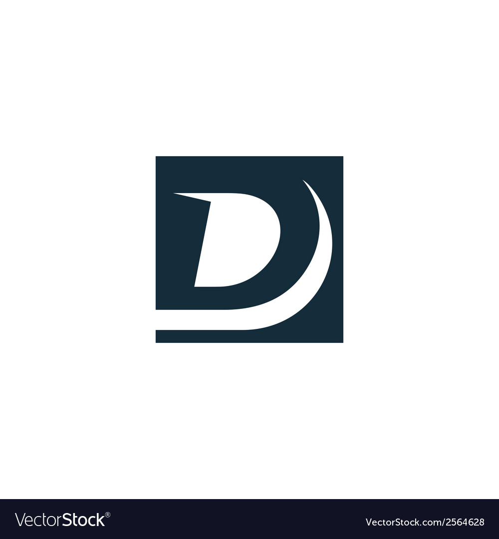 Sign the letter d vector | Price: 1 Credit (USD $1)