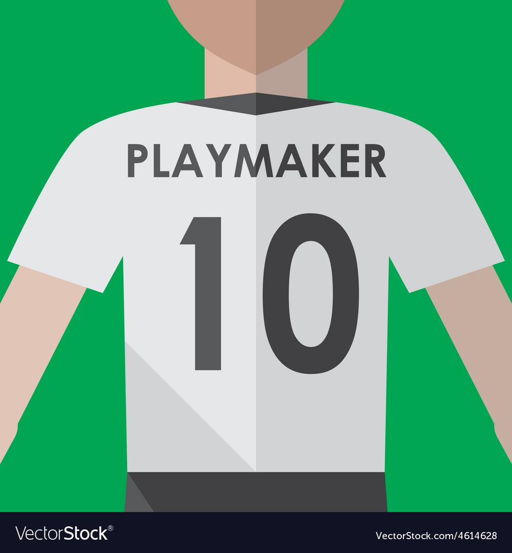 Soccer playmaker number10 vector | Price: 1 Credit (USD $1)