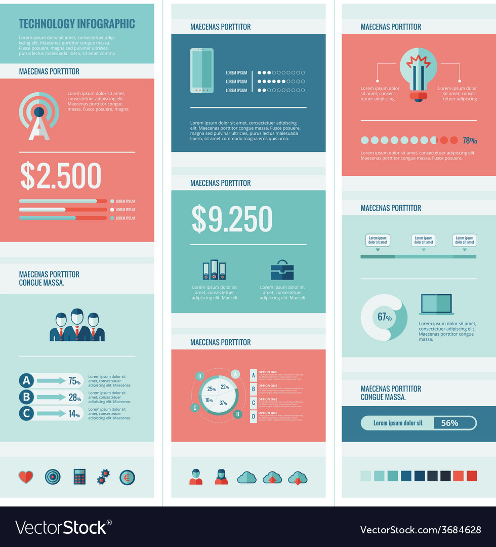 Technology infographic elements vector   Price: 1 Credit (USD $1)
