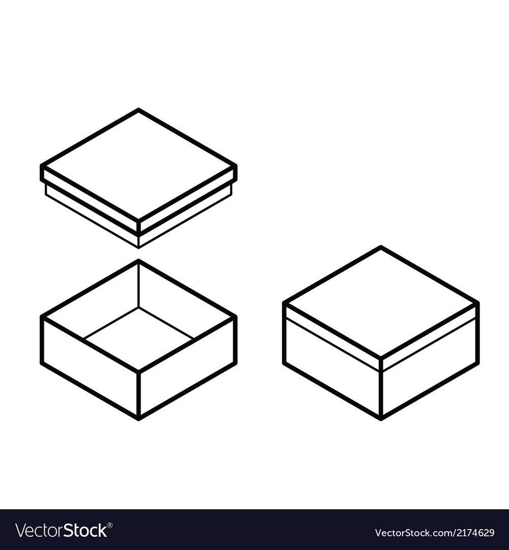 Box outline vector | Price: 1 Credit (USD $1)