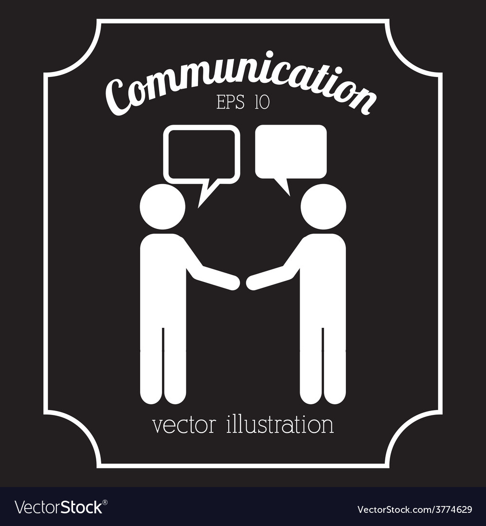 Communication icon vector | Price: 1 Credit (USD $1)