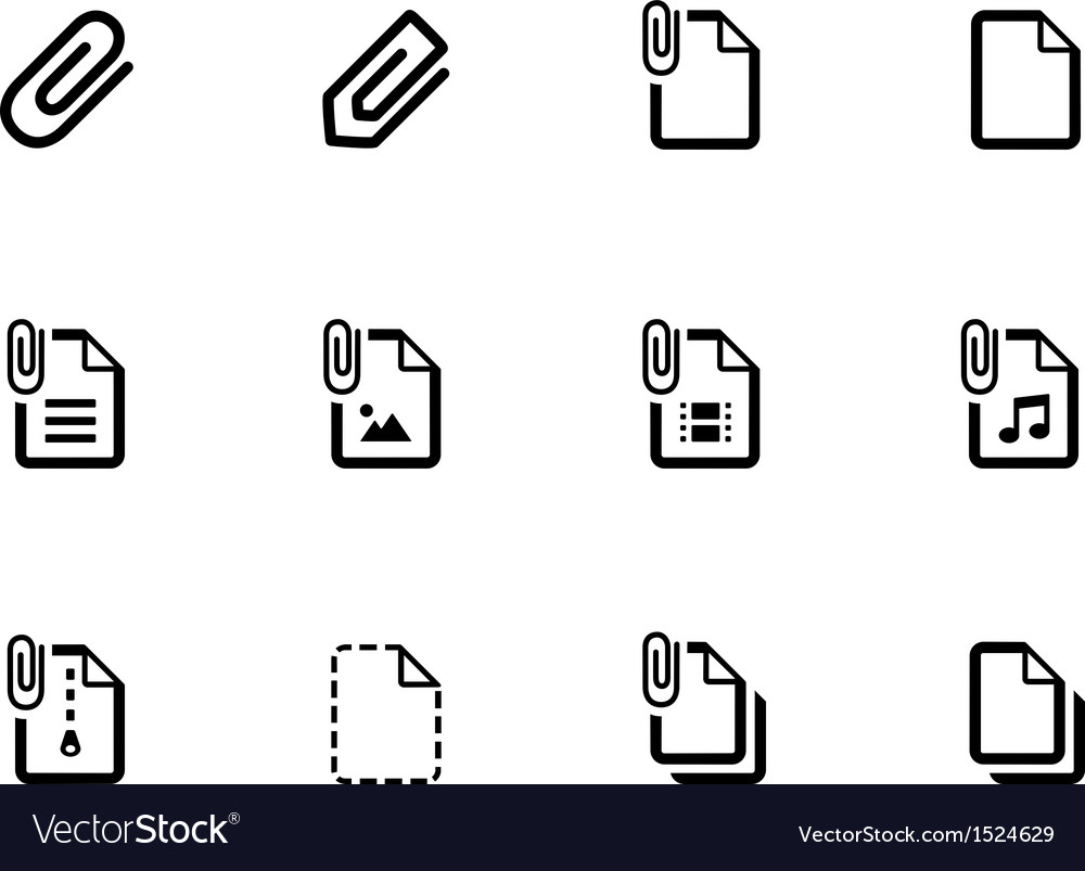 File clip icons on white background vector | Price: 1 Credit (USD $1)