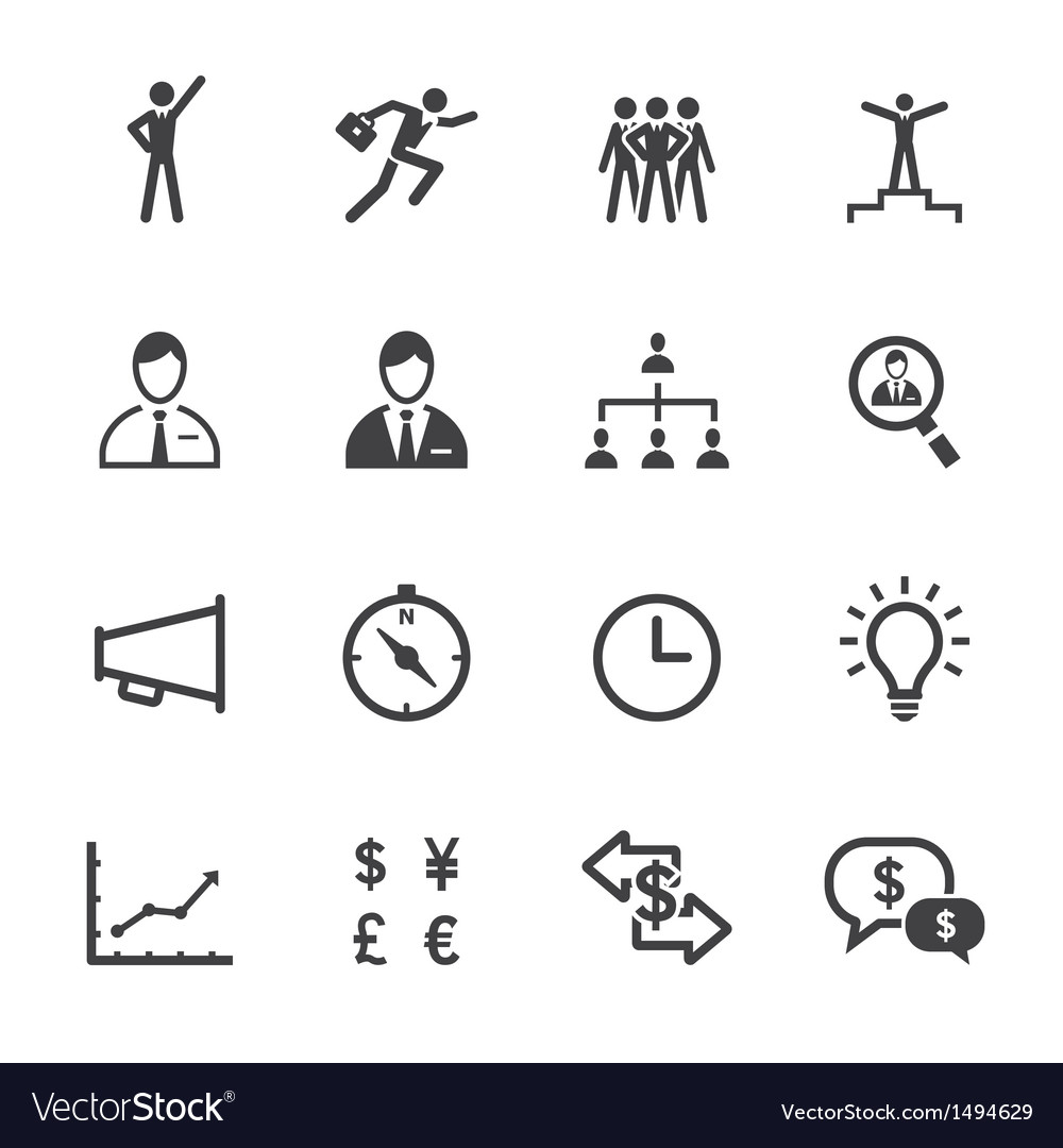 Finance and human resource icons vector | Price: 1 Credit (USD $1)