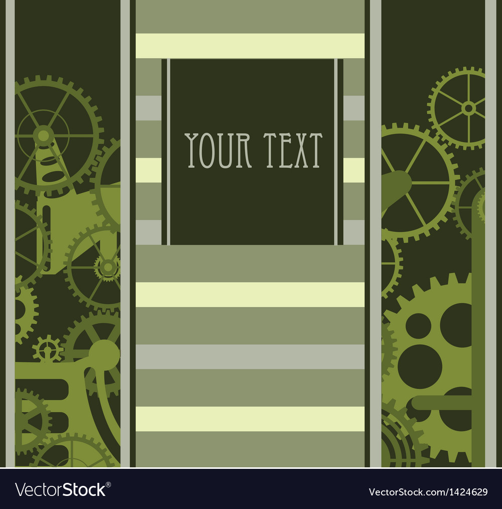 Green mechanism vector | Price: 1 Credit (USD $1)
