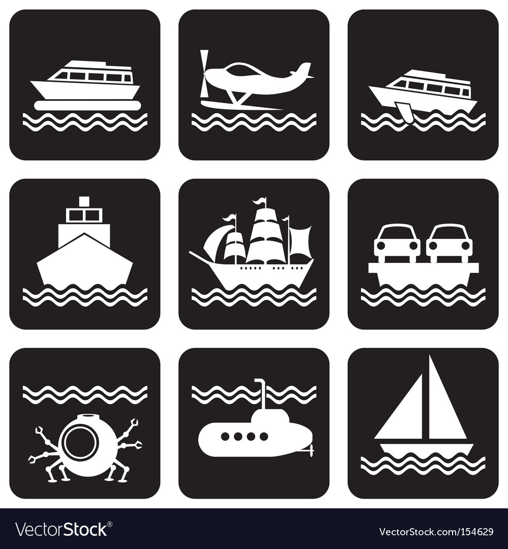 Icons boat vector   Price: 1 Credit (USD $1)