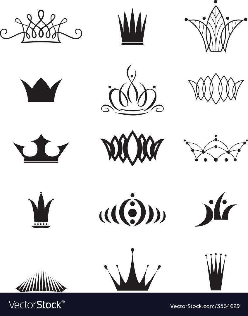 Modern crowns vector | Price: 1 Credit (USD $1)