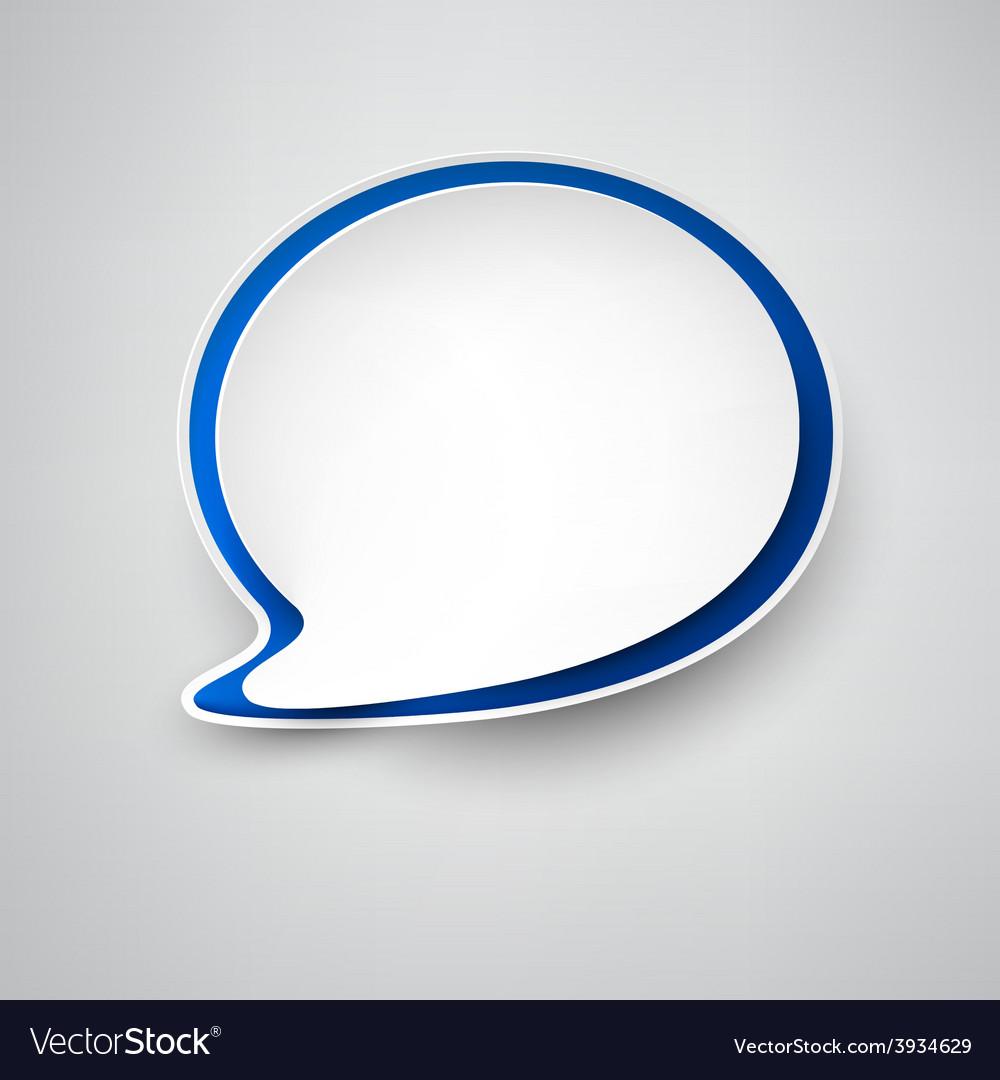 Paper white-blue speech bubble vector | Price: 1 Credit (USD $1)