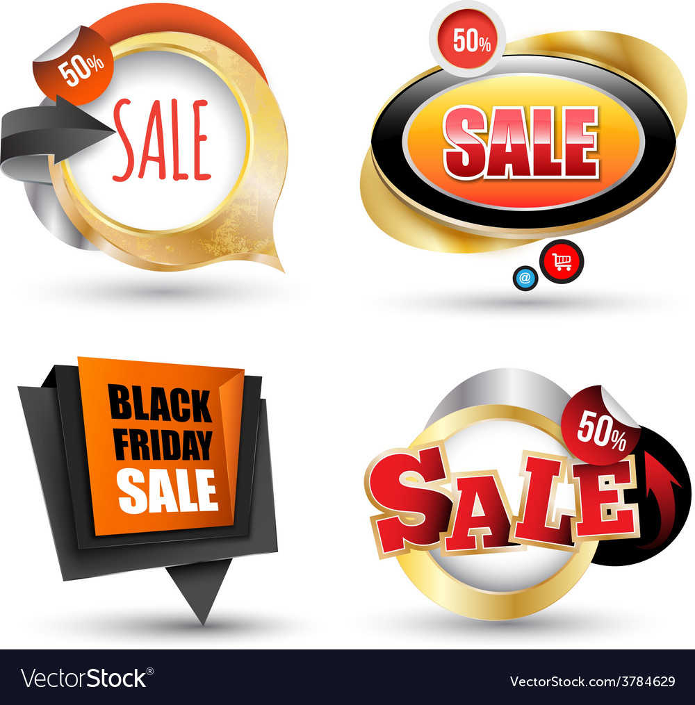 Sale banner set can use element vector | Price: 3 Credit (USD $3)