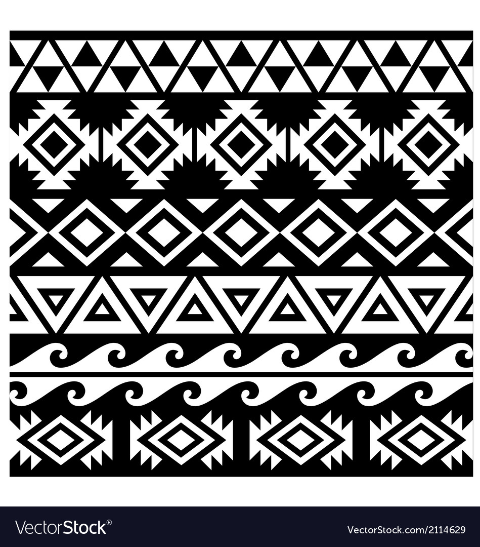 Seamless tribal pattern design vector | Price: 1 Credit (USD $1)