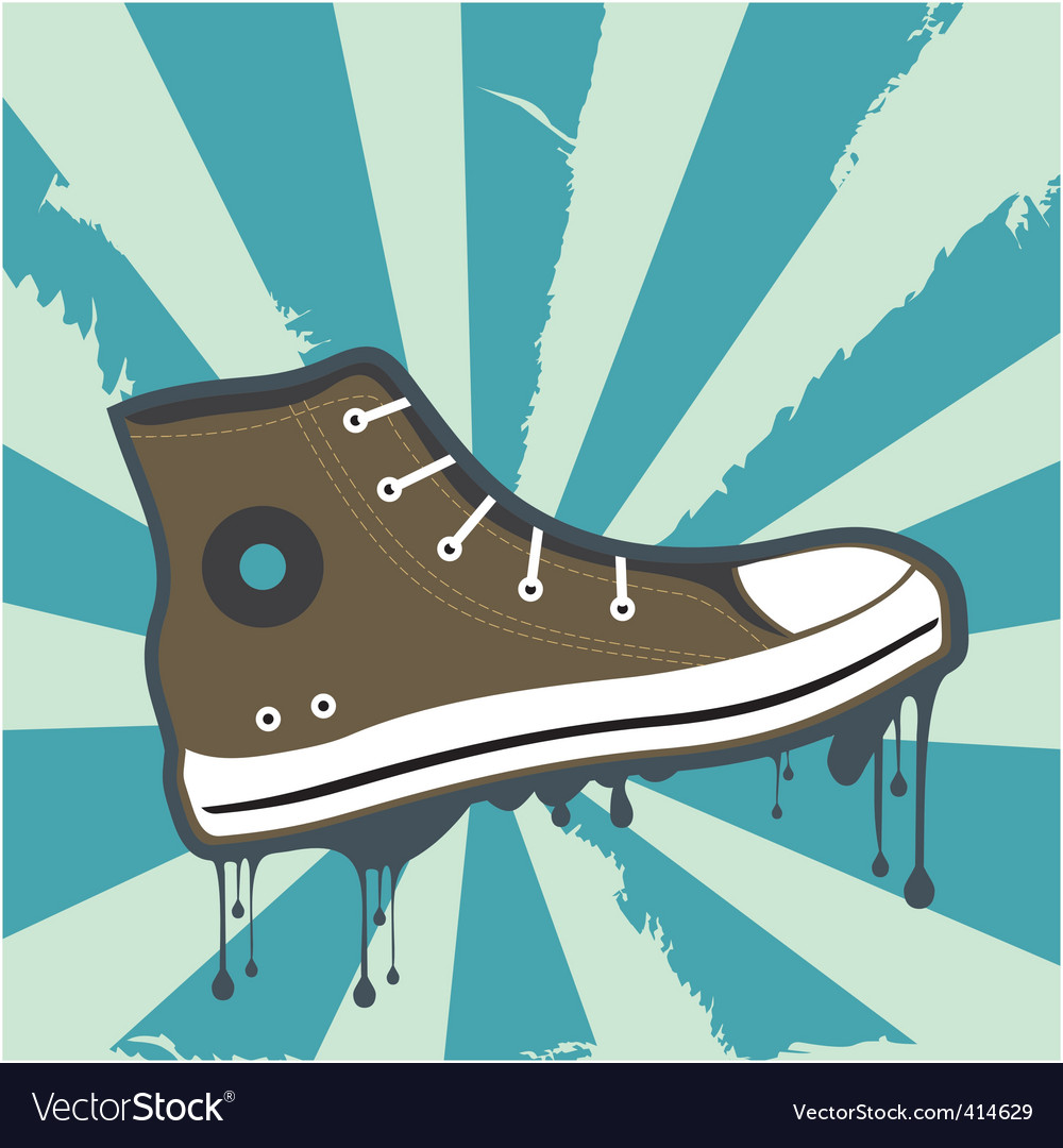 Sneakers grunge background vector | Price: 1 Credit (USD $1)