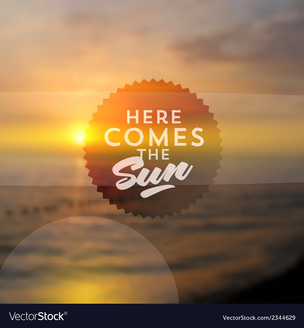 Type design against a sea summer sunset vector | Price: 1 Credit (USD $1)