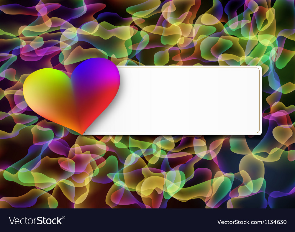 Abstract valentines day postcard vector | Price: 1 Credit (USD $1)