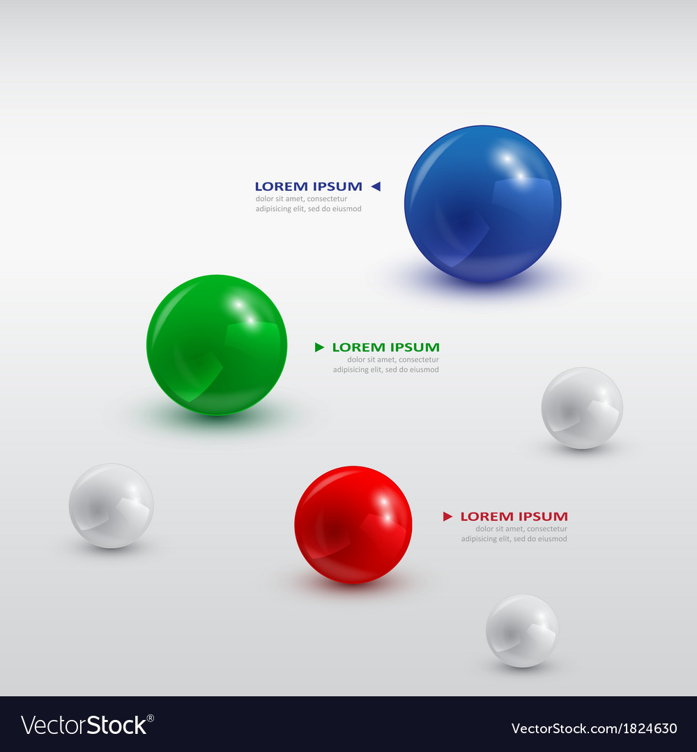Balls infographic 2 vector | Price: 1 Credit (USD $1)