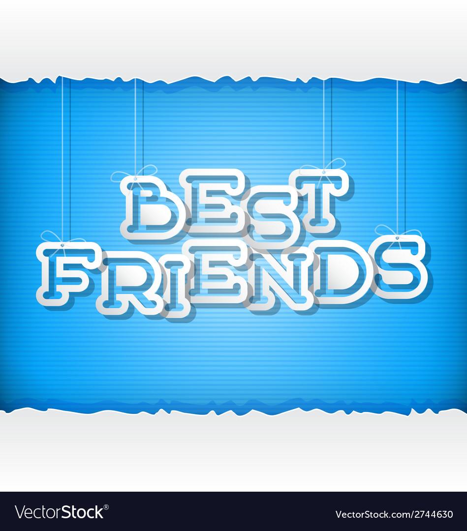 Best friends vector | Price: 1 Credit (USD $1)