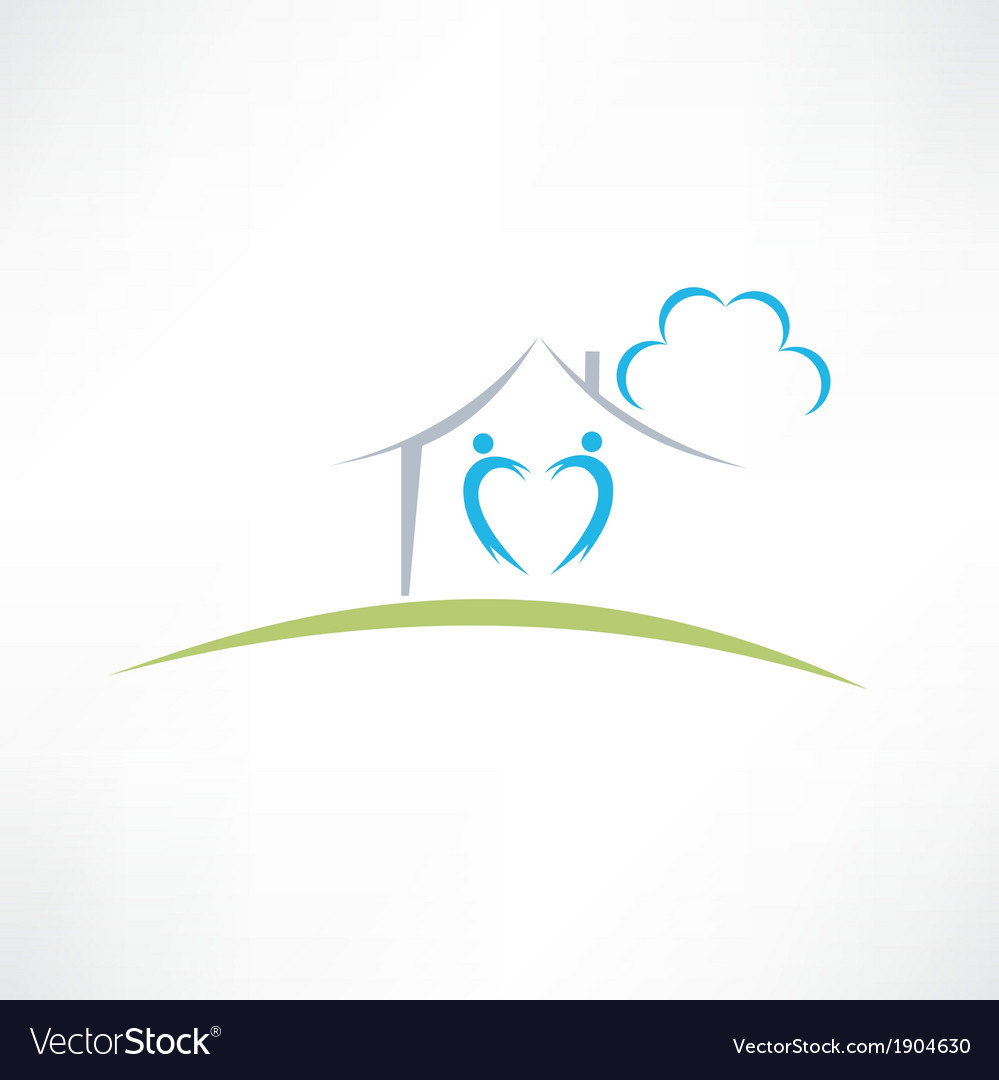 Happy home icon vector | Price: 1 Credit (USD $1)